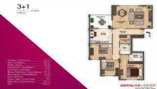 Новые Апартаменты в Хорошем Комплексе, Планировка -1