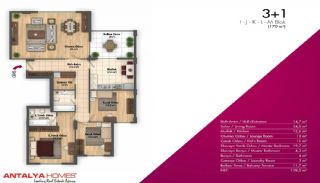 Новые Апартаменты в Хорошем Комплексе, Планировка -2