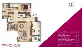 Новые Апартаменты в Хорошем Комплексе, Планировка -3