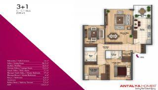 Новые Апартаменты в Хорошем Комплексе, Планировка -4