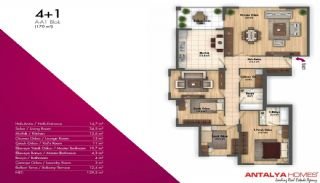 Новые Апартаменты в Хорошем Комплексе, Планировка -5