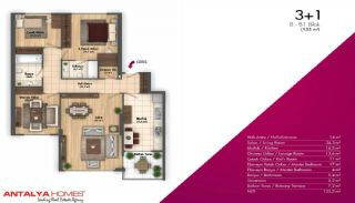 Новые Апартаменты в Хорошем Комплексе, Планировка -6