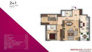 Новые Апартаменты в Хорошем Комплексе, Планировка -8