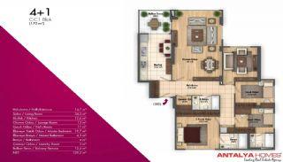 Новые Апартаменты в Хорошем Комплексе, Планировка -11