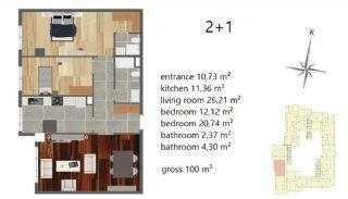 Апартаменты Рядом с Центром Города, Планировка -3
