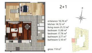 Апартаменты Рядом с Центром Города, Планировка -4