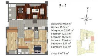 Апартаменты Рядом с Центром Города, Планировка -6