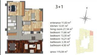 Апартаменты Рядом с Центром Города, Планировка -7