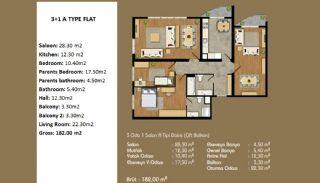 Современные Апартаменты с Хорошим Расположением, Планировка -1