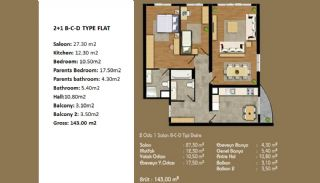 Современные Апартаменты с Хорошим Расположением, Планировка -2
