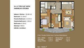 Современные Апартаменты с Хорошим Расположением, Планировка -3