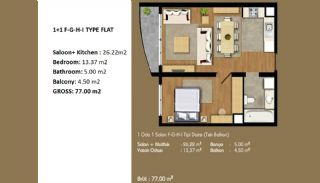 Современные Апартаменты с Хорошим Расположением, Планировка -4