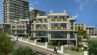 Feistehende Villen in einer großen Wohnanlage, Istanbul / Basaksehir - video