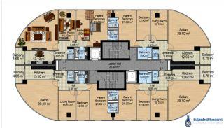 Moderne Wohnungen in einer großen Wohnanlage, Immobilienplaene-1