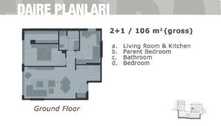 Комфортабельные Апартаменты на Продажу в Центре, Планировка -2