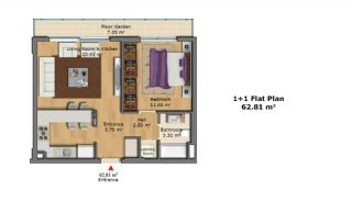 Качественные Апартаменты с Современным Дизайном, Планировка -3