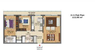 Качественные Апартаменты с Современным Дизайном, Планировка -4