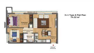 Качественные Апартаменты с Современным Дизайном, Планировка -5