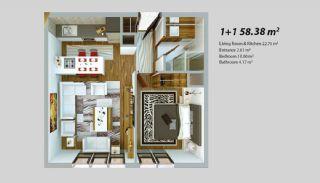 Современный Проект для Инвестирования в Стамбуле, Планировка -1