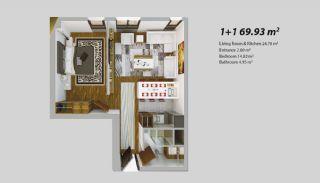 Современный Проект для Инвестирования в Стамбуле, Планировка -3