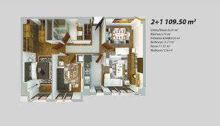 Современный Проект для Инвестирования в Стамбуле, Планировка -6