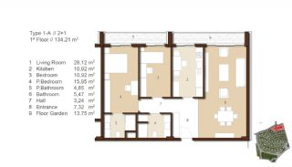 Traditional Apartments for Sale in Istanbul, Property Plans-1
