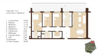 Traditional Apartments for Sale in Istanbul, Property Plans-6