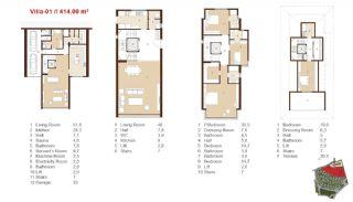 Traditionella Lägenheter till Salu i Istanbul, Planritningar-11