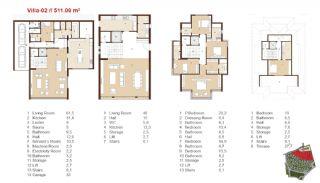 Traditionella Lägenheter till Salu i Istanbul, Planritningar-12
