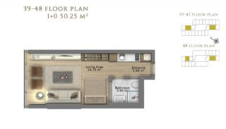 First Class Investment Apartments in Şişli İstanbul, Property Plans-1
