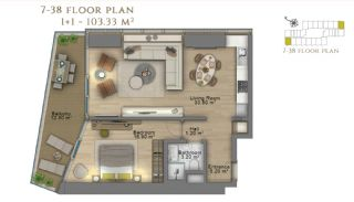 First Class Investment Apartments in Şişli İstanbul, Property Plans-3