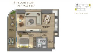 First Class Investment Apartments in Şişli İstanbul, Property Plans-5