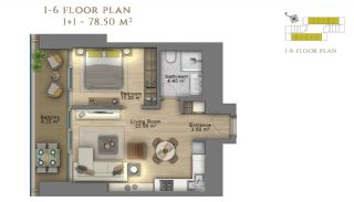 First Class Investment Apartments in Şişli İstanbul, Property Plans-6