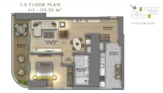 First Class Investment Apartments in Şişli İstanbul, Property Plans-8
