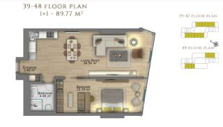 First Class Investment Apartments in Şişli İstanbul, Property Plans-9