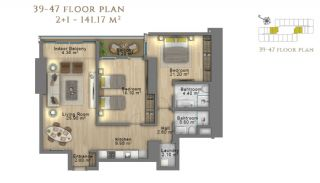 First Class Investment Apartments in Şişli İstanbul, Property Plans-11