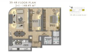 First Class Investment Apartments in Şişli İstanbul, Property Plans-14