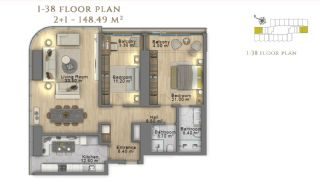 First Class Investment Apartments in Şişli İstanbul, Property Plans-15