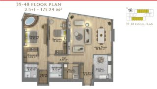 First Class Investment Apartments in Şişli İstanbul, Property Plans-16