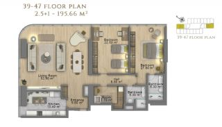First Class Investment Apartments in Şişli İstanbul, Property Plans-17
