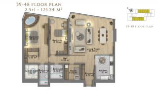 First Class Investment Apartments in Şişli İstanbul, Property Plans-18