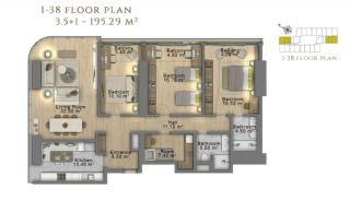 First Class Investment Apartments in Şişli İstanbul, Property Plans-20