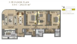 First Class Investment Apartments in Şişli İstanbul, Property Plans-21