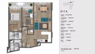 Turkey Apartments for Sale in Istanbul with Sea View, Property Plans-3
