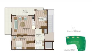 Key Ready Istanbul Apartments with Overlooking Lake, Property Plans-3