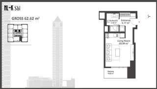 Istanbul Apartments with Wide Windows in Sisli, Property Plans-1