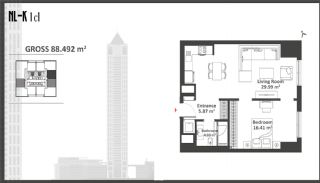 Istanbul Apartments with Wide Windows in Sisli, Property Plans-2