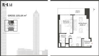 Istanbul Apartments with Wide Windows in Sisli, Property Plans-3