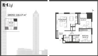 Istanbul Apartments with Wide Windows in Sisli, Property Plans-4