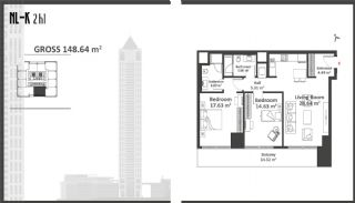 Istanbul Apartments with Wide Windows in Sisli, Property Plans-5